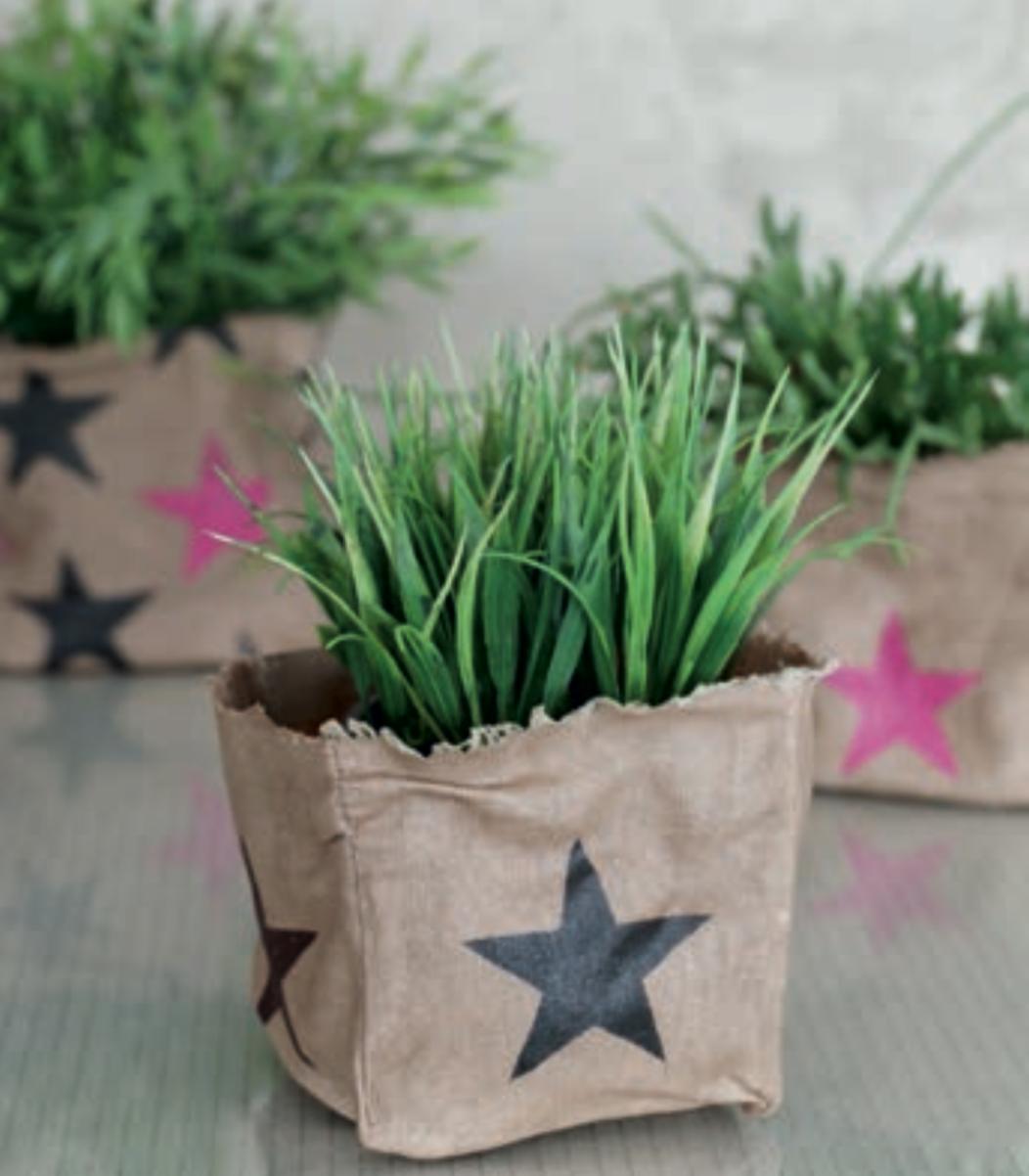 Pflanzen-Tasche bedruckt Beispiel Rayher