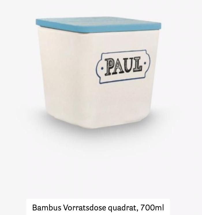 Neu* Bambus-Vorratsdose Quadrat Beispielsbild Rayher