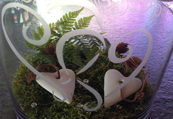 Vase sandgestrahlt Beispiels-Bild Internet