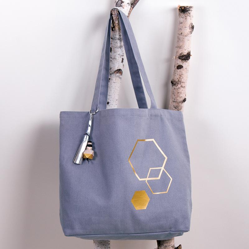 Einkaufstasche zum verzieren Beipiel Rayher