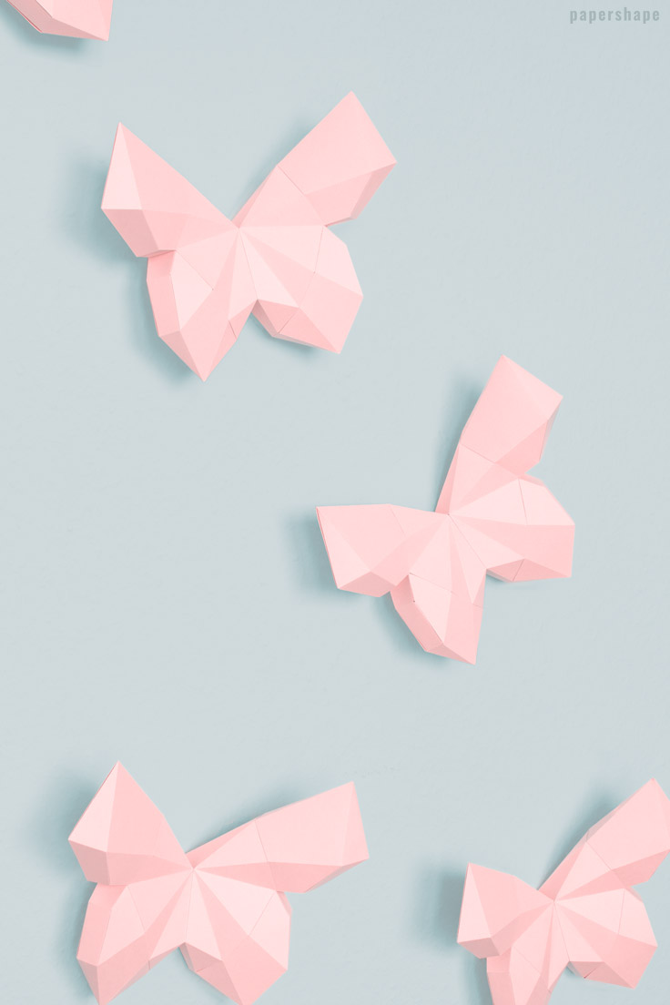 Schmetterling Beispielsbild Papershape