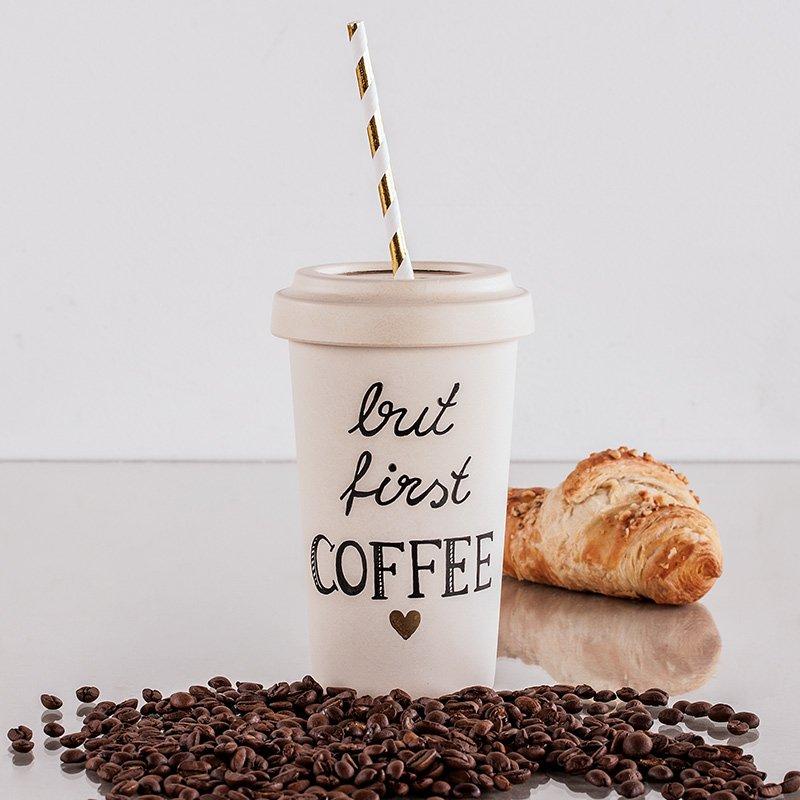 Bambus Coffee to go Beispielsbild Rayher