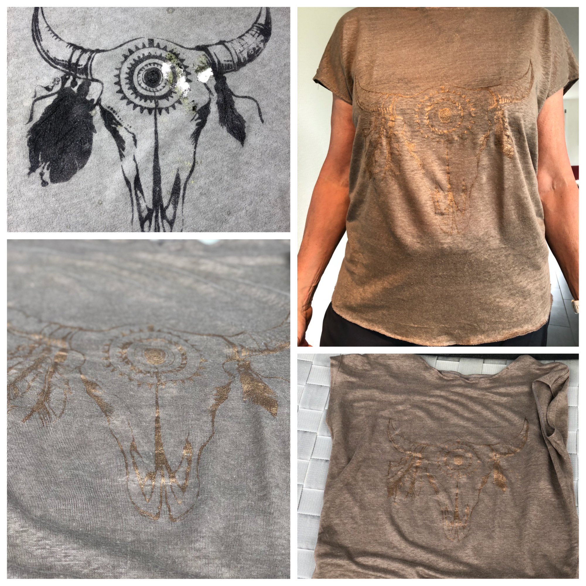 bedrucktes Shirt Ochsenkopf