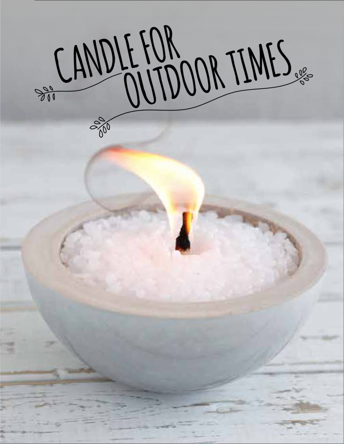 Beton-Kerze Garten-Kerze