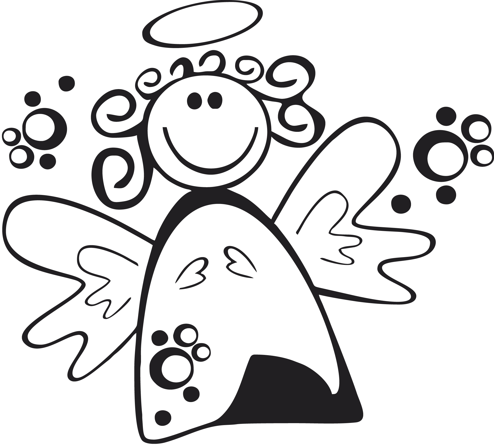 fröhliche Engel-Vorlage zum sandstrahlen Beispiel Internet
