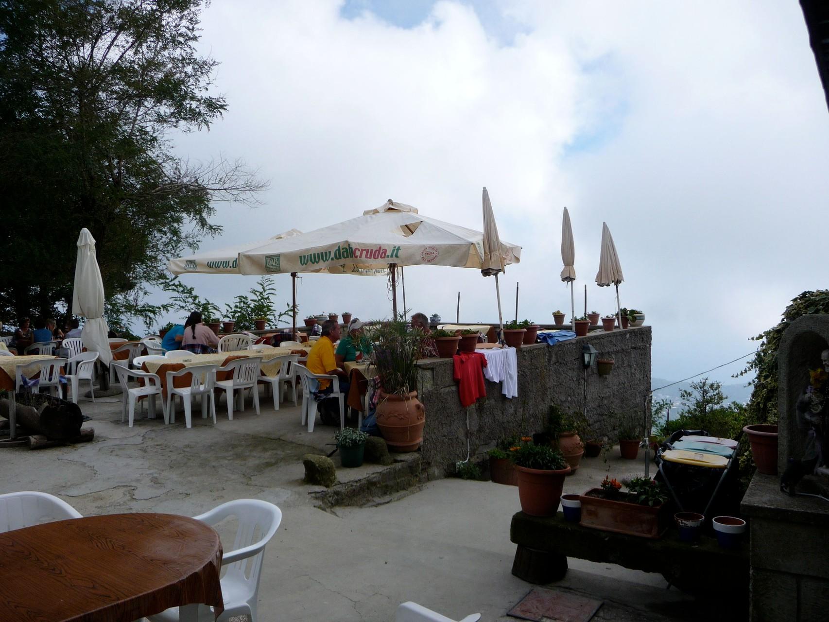 Gipfel-Restaurant auf dem Epomeo