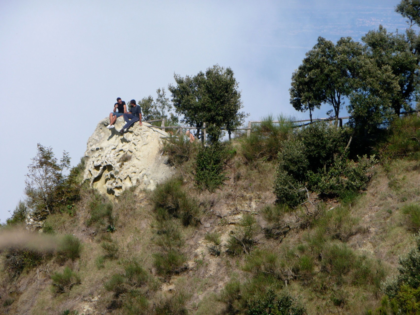 Auf dem Gipfel des Epomeo