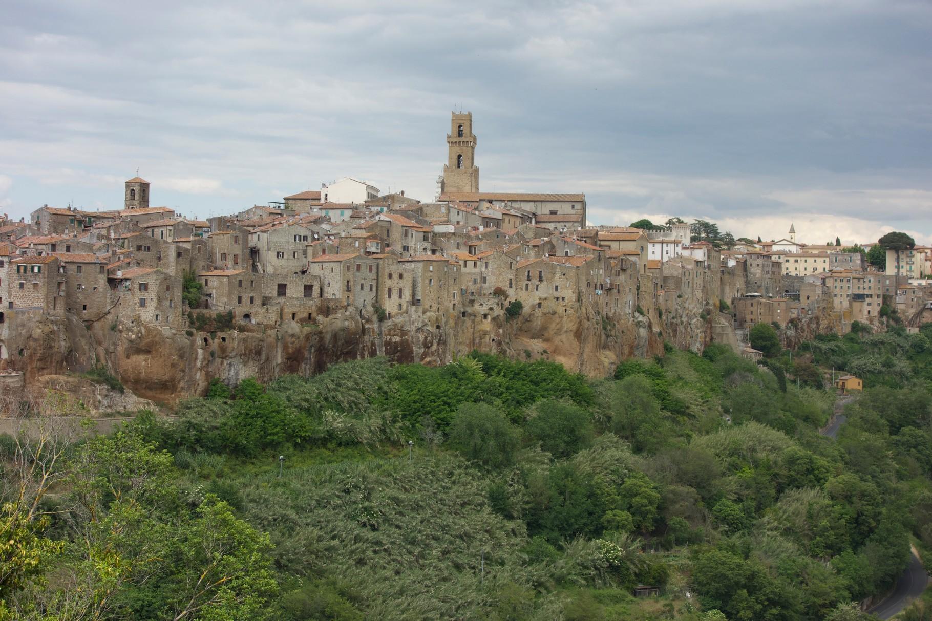 ...und welche mit Dorf. Dieses hier heißt Pitigliano.