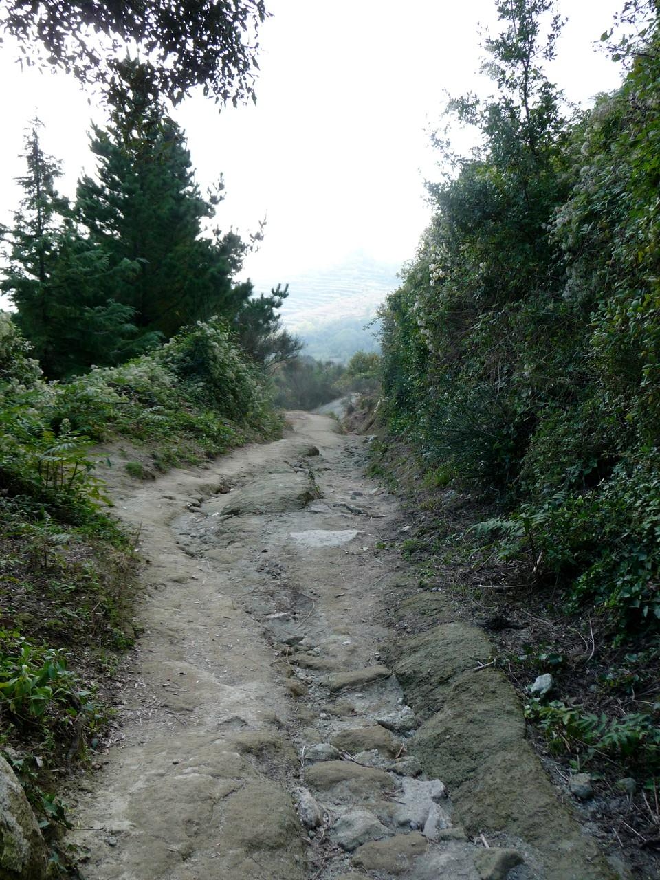 So ist der Weg zum Gipfel befestigt....