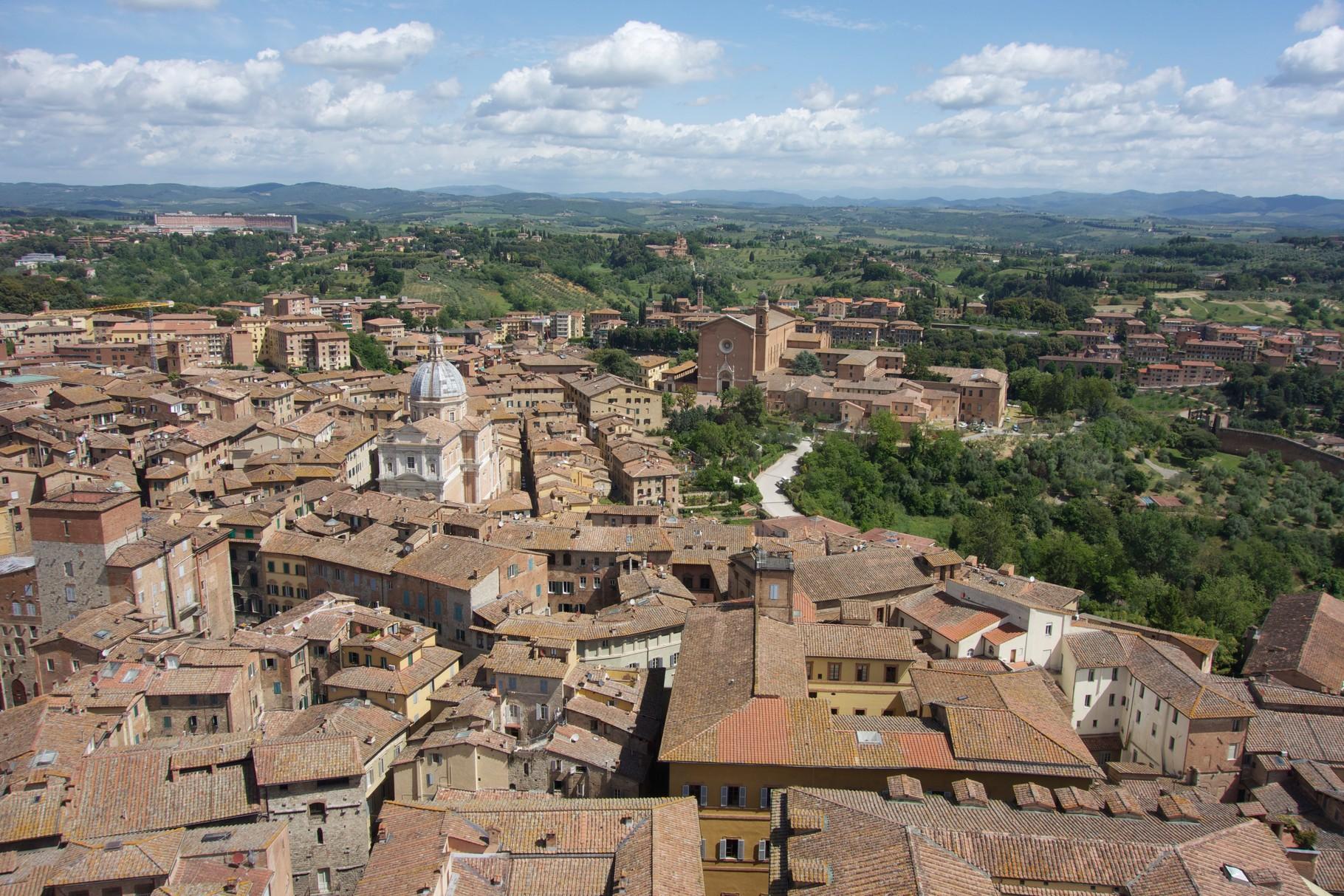 Siena vom Torre di Mangia aus