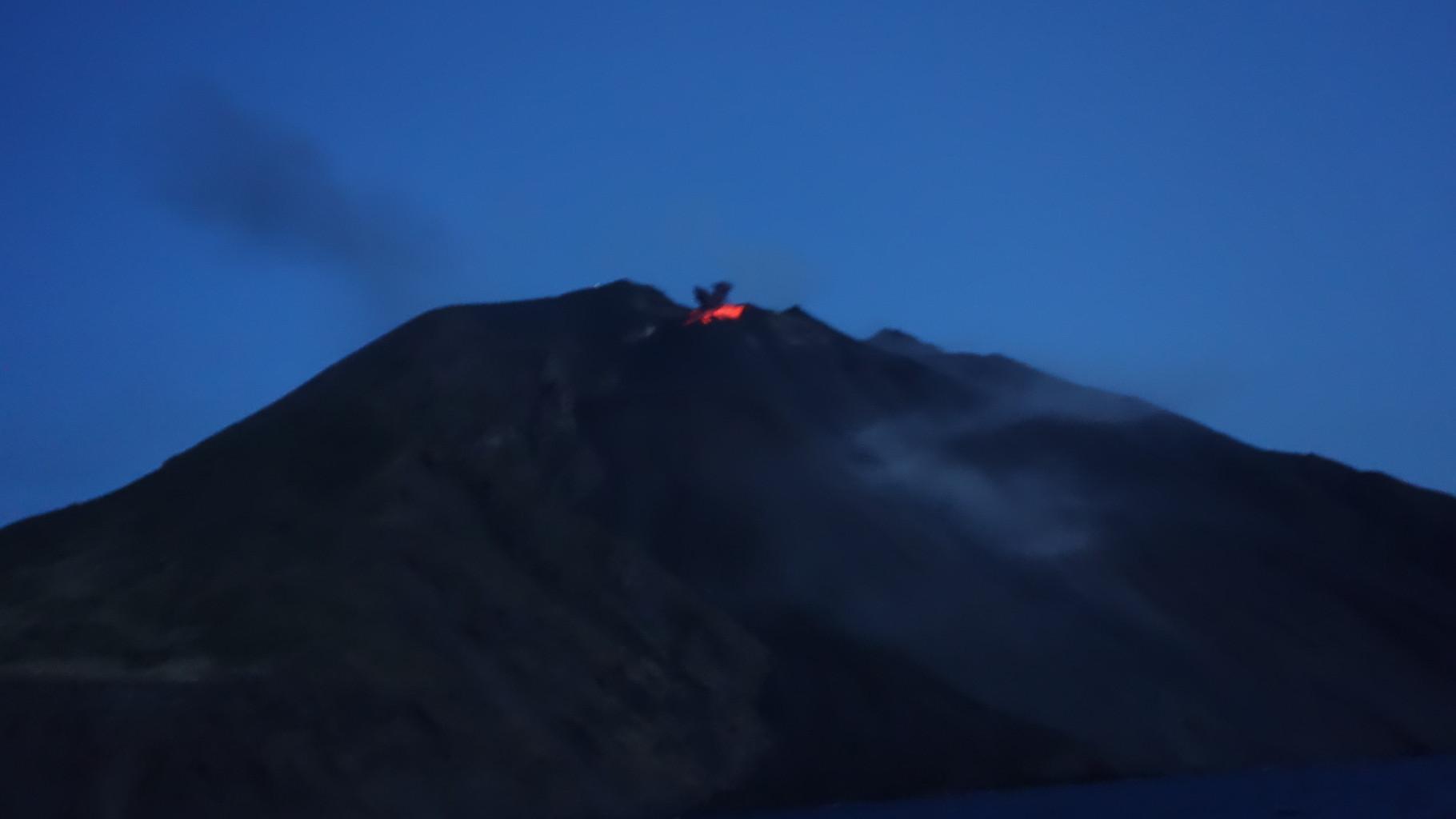 Der Stromboli bei Nacht