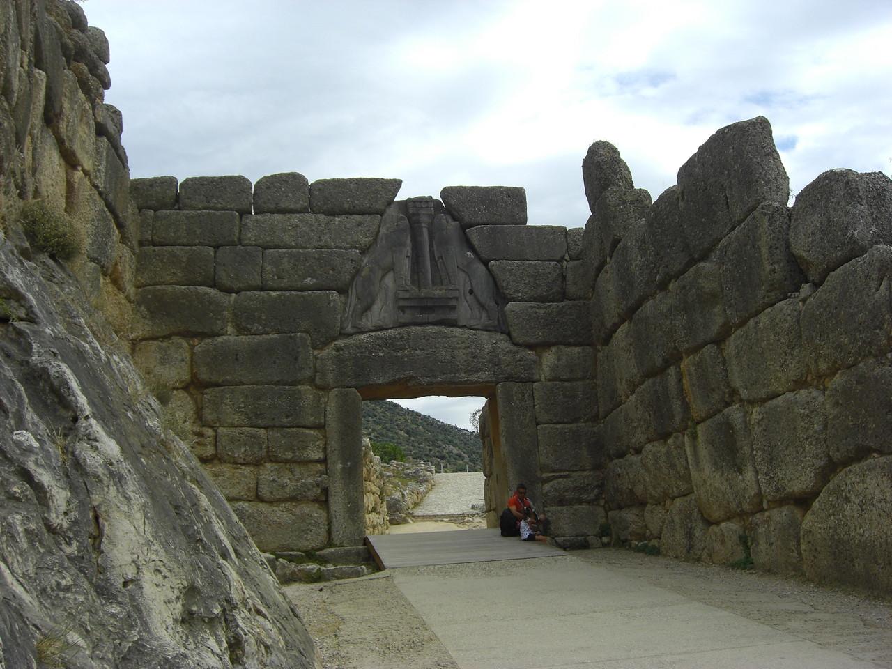 Die Zyklopenmauer in Mykene