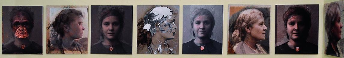 »MITOCHONDRISCHE EVA I«, Fotoanimation, Konzeptkunst, 8 Fotos Digitaldruck auf Kappa, 2008