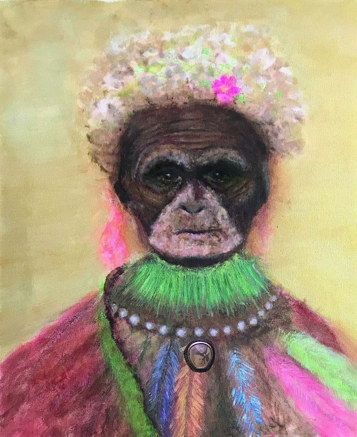 »MITOCHONDRISCHE EVA III«, Malerei, Konzeptkunst, Mixed Media auf Leinwand, 2019