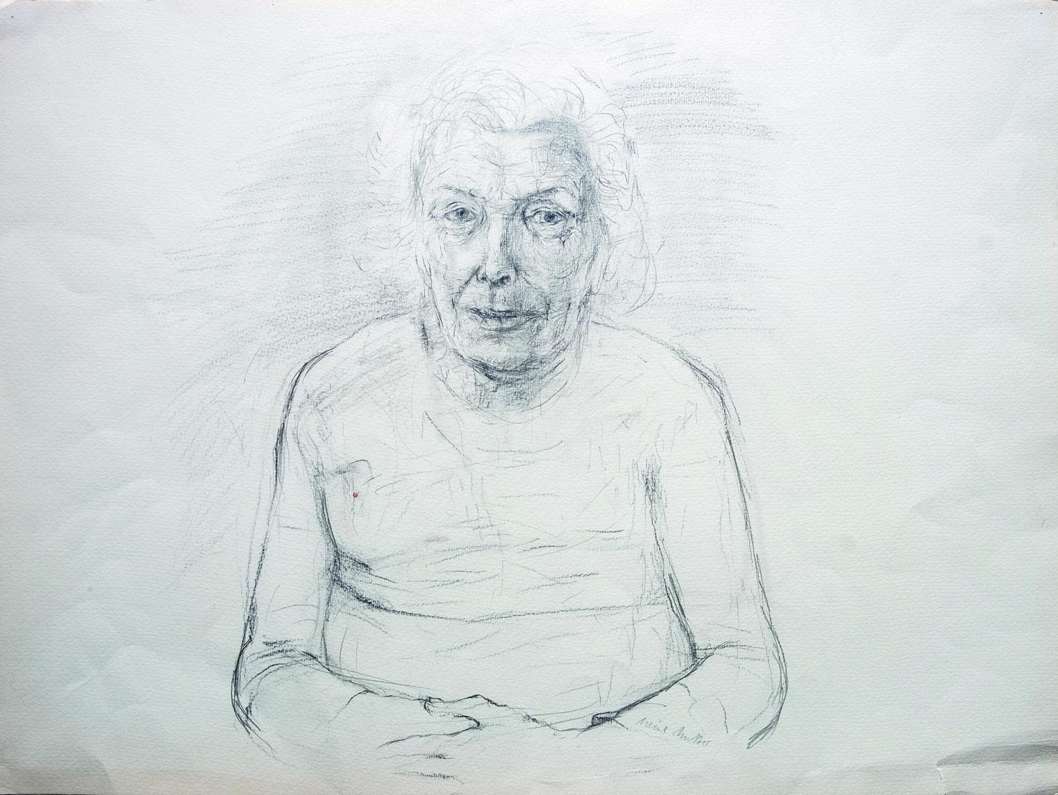 »LEBENSFÜLLE«, Meine Mutter, Bleistift auf Papier, 1981 | Lebensfülle und Verlust, Die Schreibmaschine  meiner Mutter, Texte 2017/2020