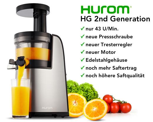Slow Juicer Zentrifugen : Wir garantieren den niedrigsten Preis :-) Hurom HG - Shop