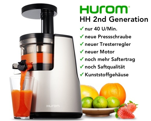 Hurom Slow Juicer Second Generation : Wir garantieren den niedrigsten Preis :-) Hurom HH - Shop