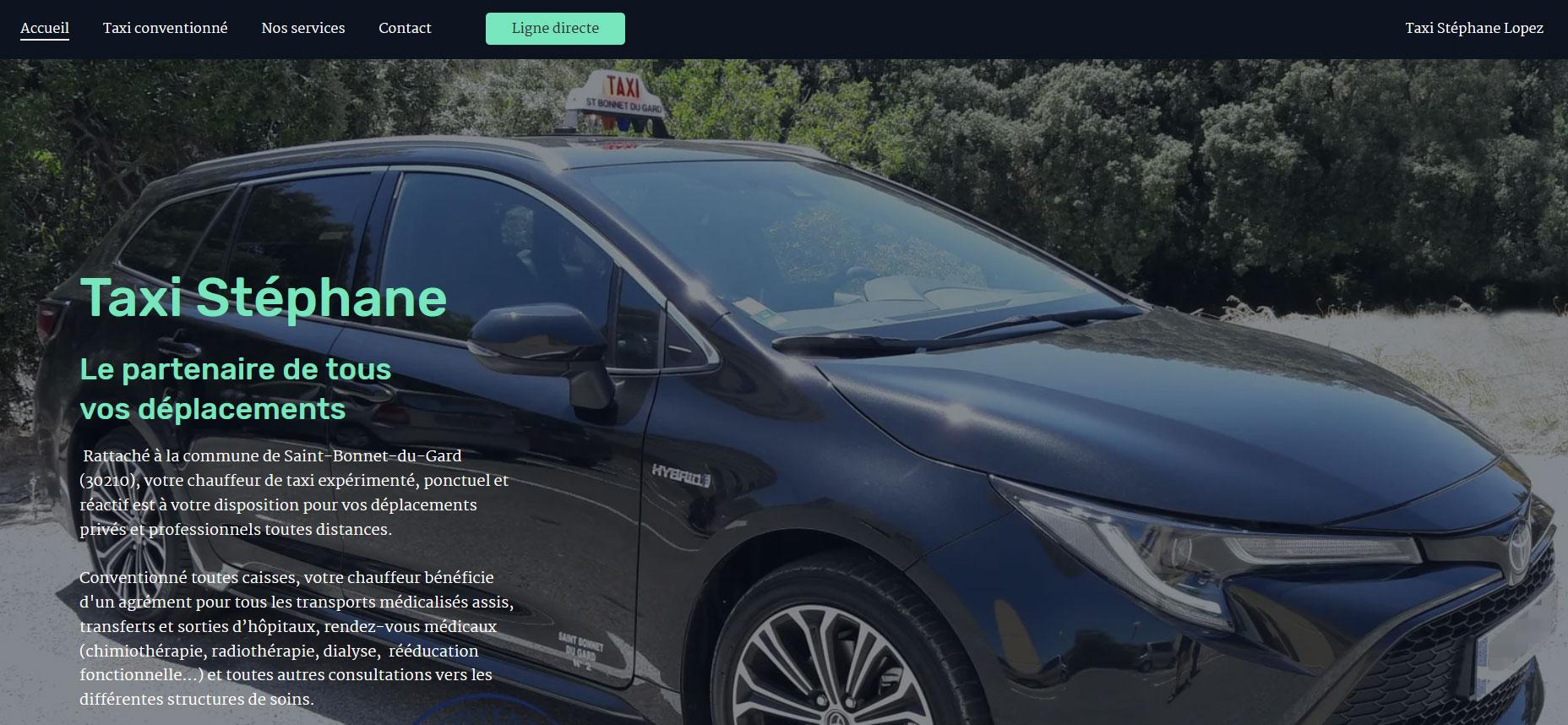 """Site web """"Taxi Stéphane Lopez"""""""