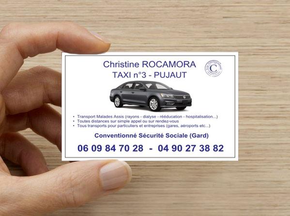 """Carte de visite """"Taxi Christine"""""""
