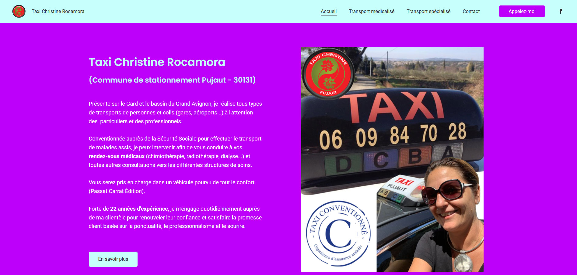 "Site web ""Taxi Christine Rocamora"""