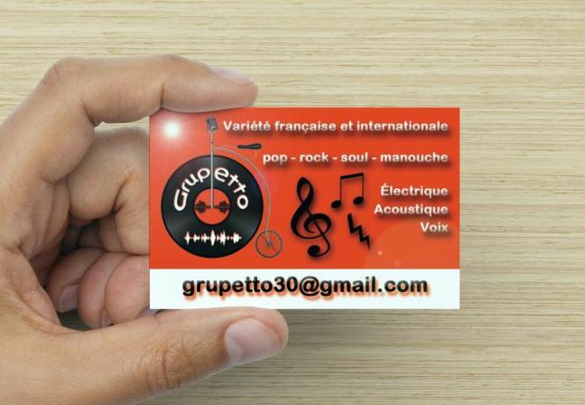 "Logotype et carte de visite groupe de musique ""Grupetto"""