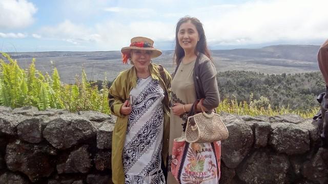 キラウエア火山でマリア先生と