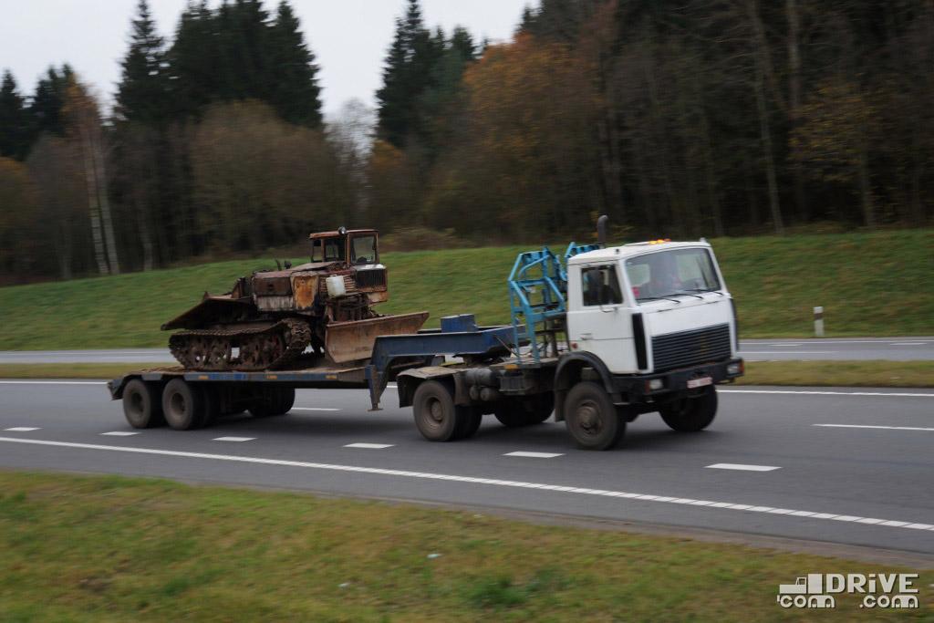 Лесовоз МАЗ-5434, переделанный под седельный тягач