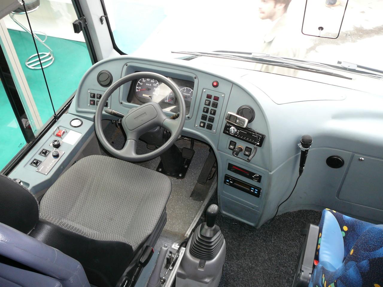 Рабочее место водителя вполне современно и удобно