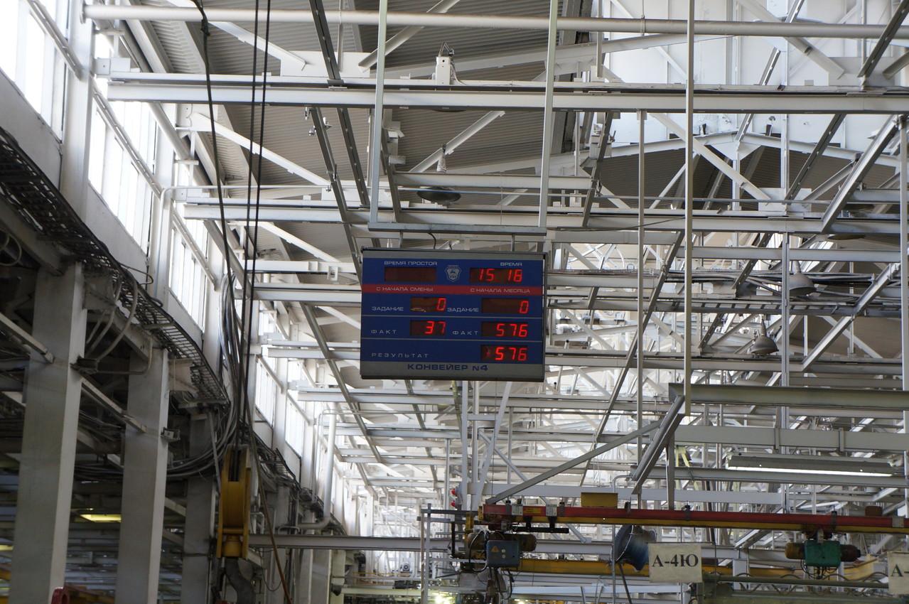 """Электронное табло с показателями выполнения плана - примета всех заводов """"Группы ГАЗ"""""""