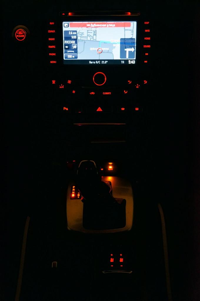 А это ночной вариант - торпедо практически на минимальной яркости подсветки