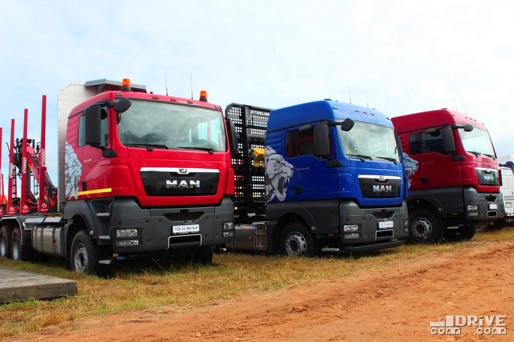 Сортиментовоз семейства MAN TGX 33.480 6x4 BB и специальные лесовозные седельные тягачи MAN TGX 33.440 6х4 и MAN TGX 33.480 6х4.