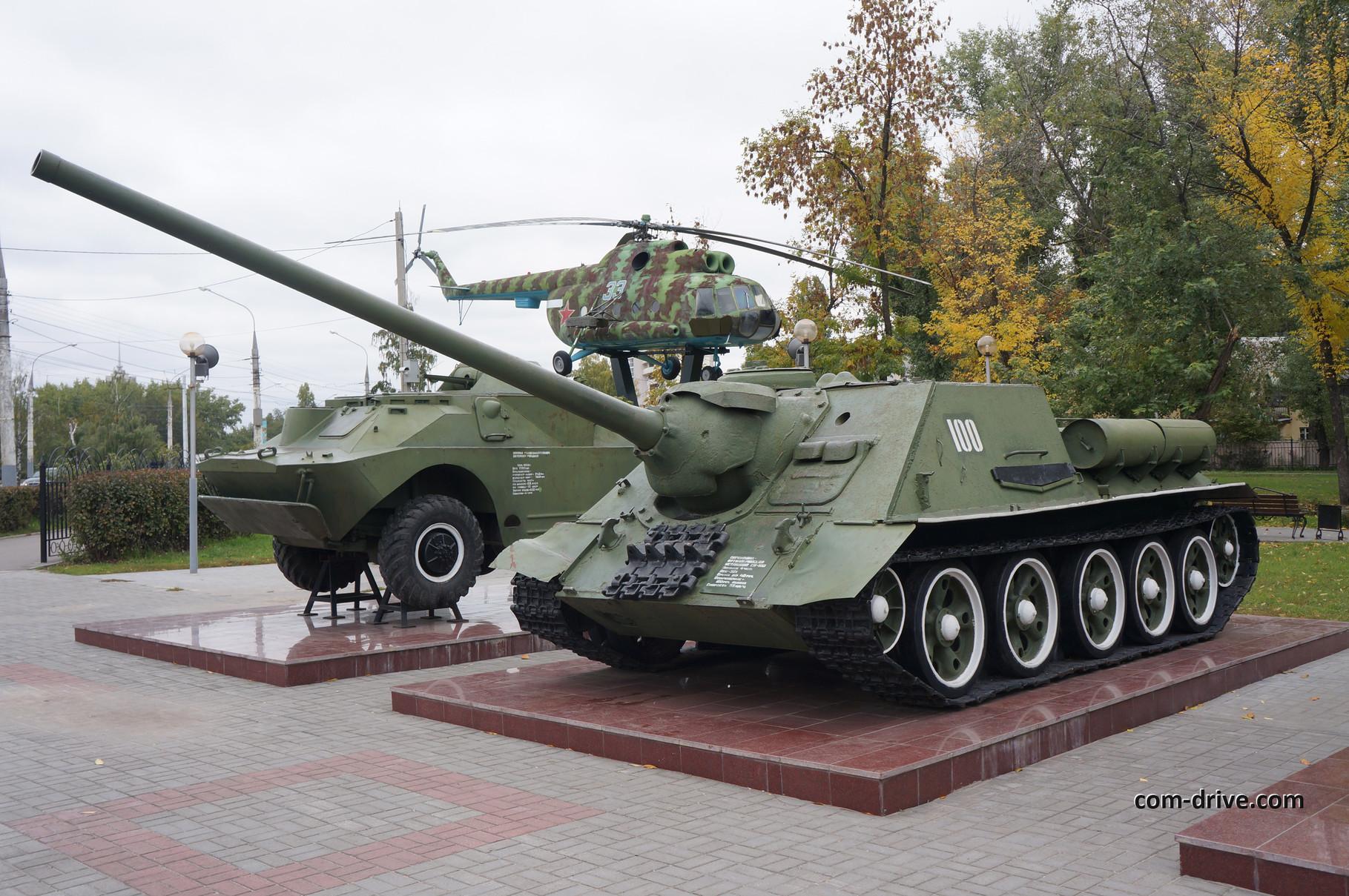 Похоже, самоходная установка СУ-100 пользуется повышенным интересом в Воронеже
