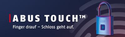 Abus Touch Hangschloss mit Fingerprint