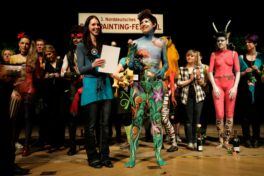 Norddeutsche Bodypaintingmeisterschaft 2012, Foto: Klaus Thierfelder