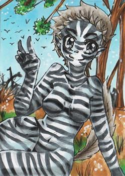N004 ~ Zebra Kenomini ~ Copic Marker ~ nicht frei