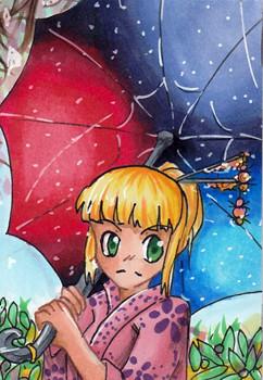 N024 ~ Spacy Regenschirm ~ Copic Marker ~ vergeben an Chaykoota