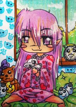 #048 Wettbewerbskarte auf Animexx ~ Buntstifte ~ frei