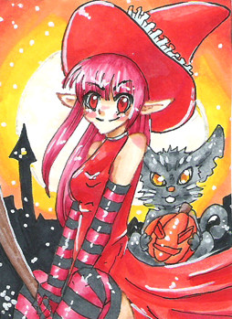 #108 ~ Orange Witch ~ Copic Marker ~ vergeben