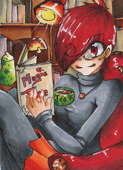 N003 ~ In der Bibliothek ~ Copic Marker ~ frei
