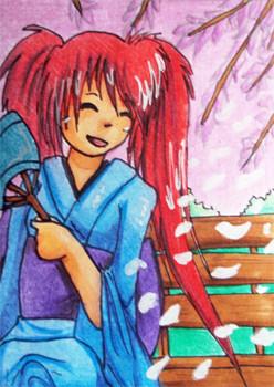 #041 Kirschblüten STA auf Animexx ~ Buntstifte ~ vergeben