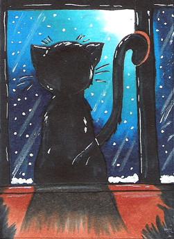 #051 ~ schwarze Katze ~ STA auf Animexx ~ Copic Marker ~ vergeben