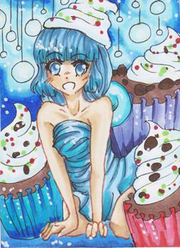 #103 Cupcake Girl ~ Copic Marker ~ vergeben an Trilo