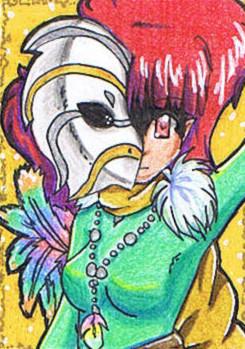 #018 ~ Paradis Vogel ~ Buntstifte ~ frei