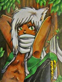 #058 ~ Auf dem Baum ~ Copic Marker ~ vergeben an Nachi
