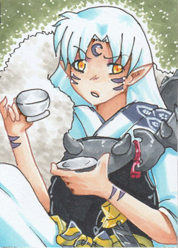 N011 ~ It's tea time ~ Copic Marker ~ nicht frei