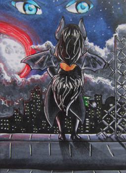#057 ~ in der schwarzen nacht ~ Copic Marker ~ vergeben an Atras-Kainblut