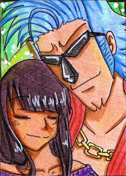 #027 ~ Robin & Franky aus One Piece ~ Buntstifte ~ vergeben an Atras-Kainblut
