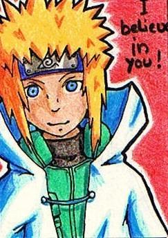 #014 Minato aus Naruto ~ Buntstifte ~ frei