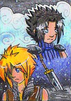 #020 ~ Zack & Cloud aus Final Fantasy ~ Buntstifte ~ frei