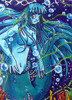 #063 Mermaid ~ Copic Marker ~ frei